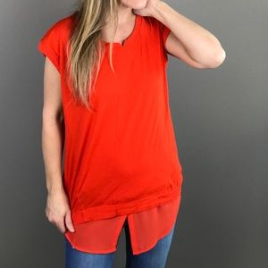Two by Vince Camuto bright orange top
